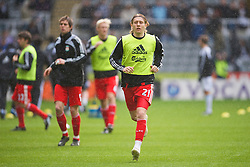 NEWCASTLE, ENGLAND - Sunday, December 28, 2008: Liverpool's Lucas Leiva before the Premiership match against Newcastle United at St James' Park. (Photo by David Rawcliffe/Propaganda)