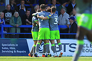 GOAL Josh Ginnelly is congratulated after scoring 0-1 during the EFL Sky Bet League 1 match between Rochdale and Walsall at Spotland, Rochdale, England on 25 August 2018.