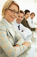 Businesswoman in conference meeting portrait