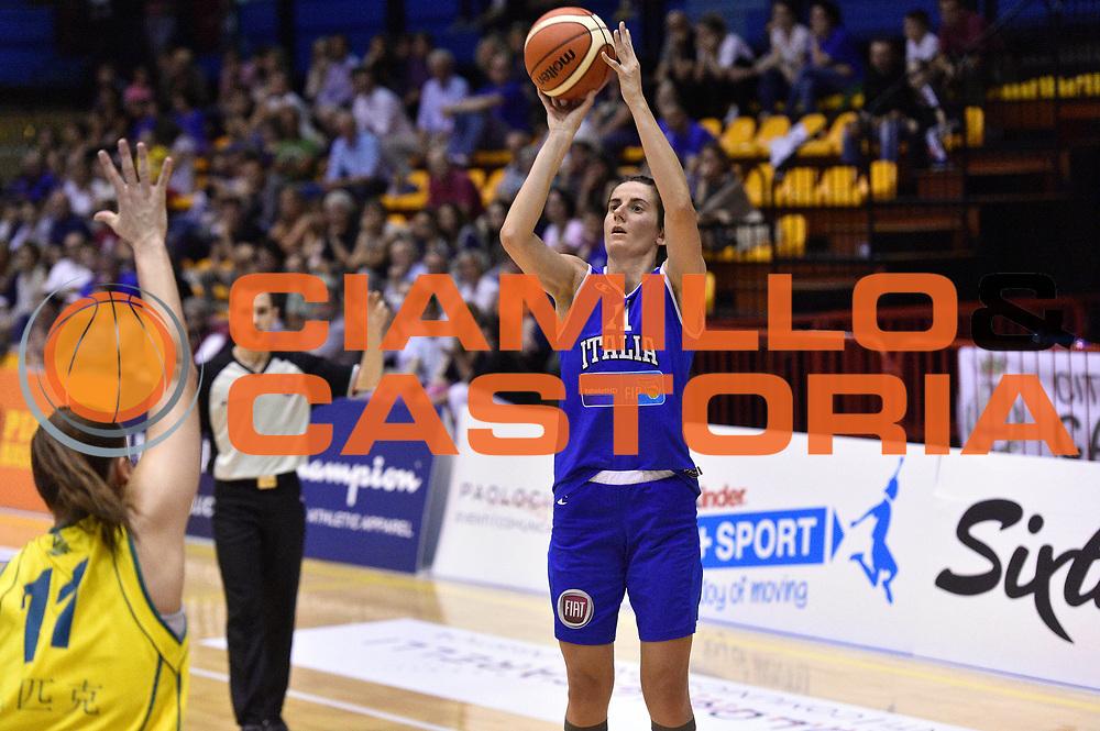 DESCRIZIONE : Caorle Amichevole Pre Eurobasket 2015 Nazionale Italiana Femminile Senior Italia Australia Italy Australia<br /> GIOCATORE : Raffaella Masciadri<br /> CATEGORIA : tiro three points<br /> SQUADRA : Italia Italy<br /> EVENTO : Amichevole Pre Eurobasket 2015 Nazionale Italiana Femminile Senior<br /> GARA : Italia Australia Italy Australia<br /> DATA : 30/05/2015<br /> SPORT : Pallacanestro<br /> AUTORE : Agenzia Ciamillo-Castoria/GiulioCiamillo<br /> Galleria : Nazionale Italiana Femminile Senior<br /> Fotonotizia : Caorle Amichevole Pre Eurobasket 2015 Nazionale Italiana Femminile Senior Italia Australia Italy Australia<br /> Predefinita :