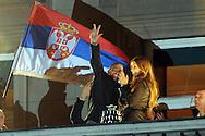 TENIS, BEOGRAD, 06. Dec. 2010. - Janko Tipsarevic. Vise hiljada gradjana se okupilo veceras ispred Starog dvora kako bi pozdravili tenisere Srbije i strucni stab - povodom osvajanja Dejvis kupa. Foto: Nenad Negovanovic