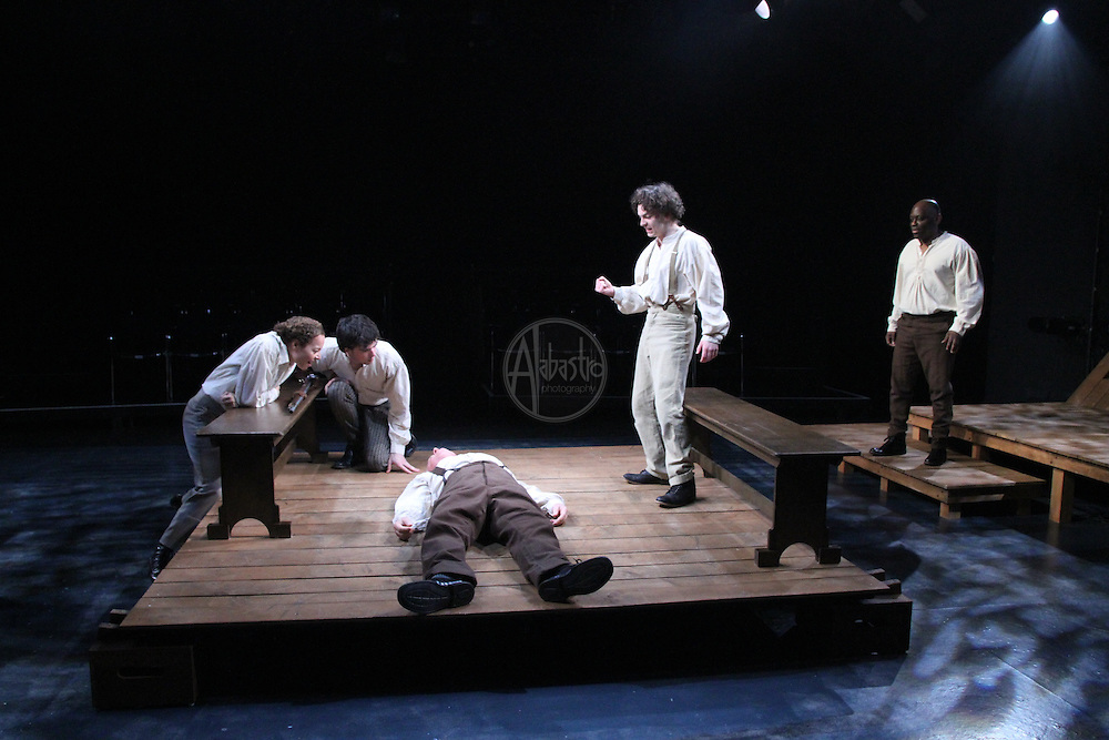 """Book-It Repertory Theatre's production of """"Adventures of Huckleberry Finn: Uncensored""""."""