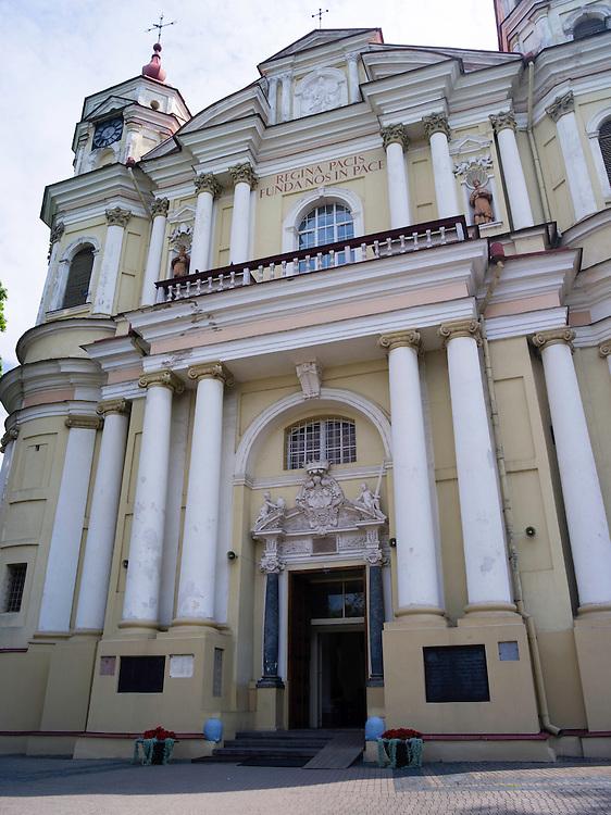 Exterior view of St. Peter and St. Paul's Church<br /> &Scaron;v. apa&scaron;talų Petro ir Povilo bažnyčia, in Vilnius, Lithuania