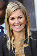 Prinses Maxima bij FMO conferentie 'The Future of Banking' <br />