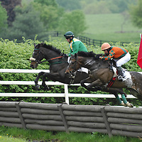 05 May 2007: Blake Curry on Fappa Fire (L) leads William Dowling aboard Seeyouattheevent (R) over a jump in the Galen Capital Virginia Gold Cup as they ride to a 1st place finish in the Virginia Gold Cup Races on May 5, 2007 at the Great Meadow in The Plains, Va. .