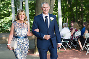 parents at outdoor wedding ceremony by Tallmadge wedding photographer, Akron wedding photographer Mara Robinson Photography