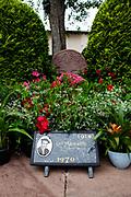 Grave of Basque singer Luis Mariano, Arcangues, Pyrénées-Atlantiques, France