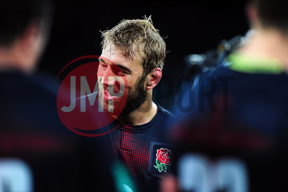Chris Robshaw of England is all smiles after the match - Mandatory byline: Patrick Khachfe/JMP - 07966 386802 - 19/11/2016 - RUGBY UNION - Twickenham Stadium - London, England - England v Fiji - Old Mutual Wealth Series.