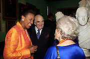 Baroness Scotland and Lord Weidenfeld. Celebration of Lord Weidenfeld's 60 Years in Publishing hosted by Orion. the Weldon Galleries. National Portrait Gallery. London. 29 June 2005. ONE TIME USE ONLY - DO NOT ARCHIVE  © Copyright Photograph by Dafydd Jones 66 Stockwell Park Rd. London SW9 0DA Tel 020 7733 0108 www.dafjones.com