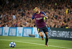 October 24, 2018 - Barcelona, Spain - Jordi Alba during the match between FC Barcelona and Inter, corresponding to the week 3 of the group stage of the UEFA Champions Leage, played at the Camp Nou Stadium, on 24th October 2018, in Barcelona, Spain. (Credit Image: © Joan Valls/NurPhoto via ZUMA Press)