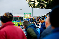 The big screens at Sandy Park during the game - Mandatory by-line: Ryan Hiscott/JMP - 03/11/2018 - RUGBY - Sandy Park Stadium - Exeter, England - Exeter Chiefs v Bath Rugby - Premiership Rugby Cup