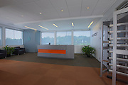 Architectural Interior image of Virginia DC-6 Data Center reception area by Jeffrey Sauers of Commercialphoto.com