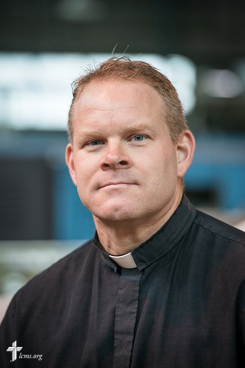 Headshot of the Rev. Peter M. Burfeind, new domestic missionary and campus pastor at the University of Toledo, at the Engineers in Christ workshop on the university's campus on Thursday, July 9, 2015, in Toledo, Ohio. LCMS Communications/Erik M. Lunsford
