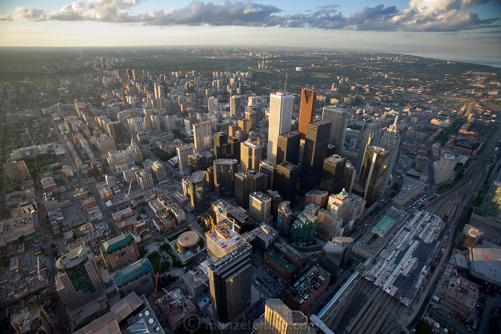 A view of the city of Toronto, Canada from the CN Tower.