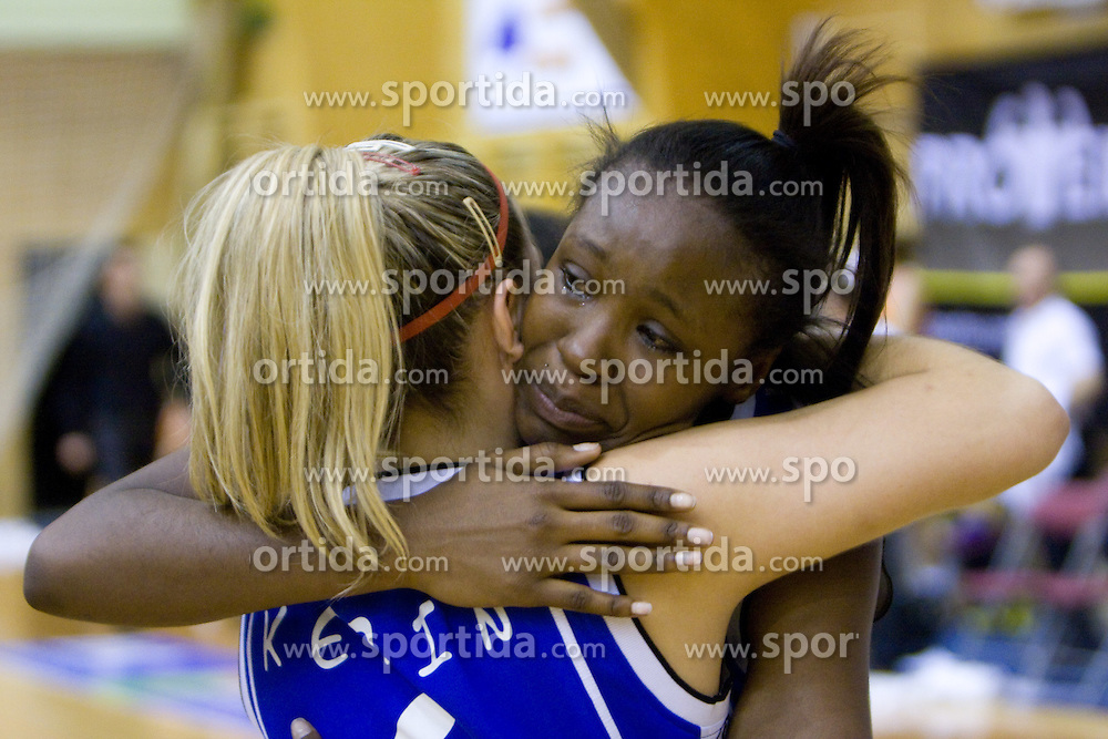Nikya Hughes of Celje celebrates at finals match of Slovenian 1st Women league between KK Hit Kranjska Gora and ZKK Merkur Celje, on May 14, 2009, in Arena Vitranc, Kranjska Gora, Slovenia. Merkur Celje won the third time and became Slovenian National Champion. (Photo by Vid Ponikvar / Sportida)