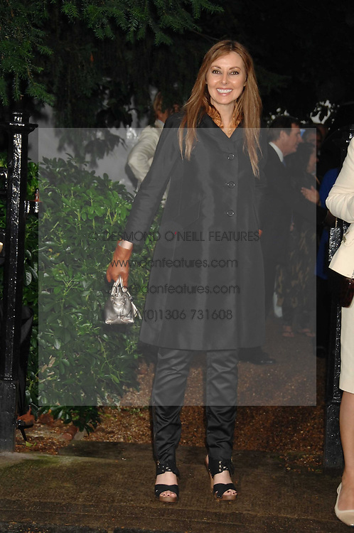 CAROL VORDERMAN at the annual Sir David &amp; Lady Carina Frost Summer Party in Carlyle Square, London SW3 on 5th July 2007.<br />