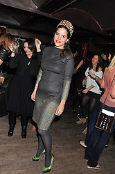 ALIX DUVERNOY at a party to celebrate the opening of the Muzungu Sisters Pop Up Store at Momo - an ethically sourced fashion brand  held at Momo, 25 Heddon Street, London on 27th October 2011.