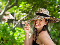 Young Woman with Sun Hat