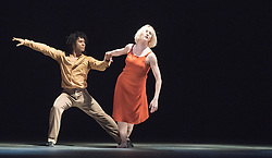 © Licensed to London News Pictures. 03/11/2015. London, UK. Rambert Dance Company present the London premier of Transfigured Night, a new work from award-winning choreographer Kim Brandstrup. At Sadler's Wells Theatre, London. Picture features Simone Dumber Wurtz & Miguel Altunaga. Photo credit : Tony Nandi/LNP