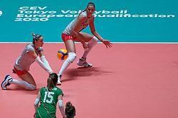 09–01-2020 NED: Olympic qualification tournament women, Apeldoorn<br /> Bulgaria - Azerbaijan / Elitsa Vasileva #16 of Bulgaria