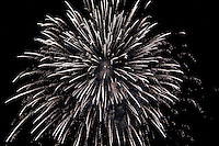 Tradizionali fuochi d'artificio che concludono i festeggiamenti dei SS.Medici ad Oria.