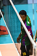 BANGKOK, THAILAND - MARCH 19: Kissada Nilsawai of Air Force VC #20 looks on during the 2016–17 Men's Volleyball Thailand League Championship, Chantarubeksa Air Force Stadium, Bangkok, Thailand on March 19, 2017.<br /> .<br /> .<br /> .<br /> (Photo by: Naratip Golf Srisupab/SEALs Sports Images)<br /> .<br /> Any image use must include a mandatory credit line adjacent to the content which should read: Naratip Golf Srisupab/SEALs Sports Images