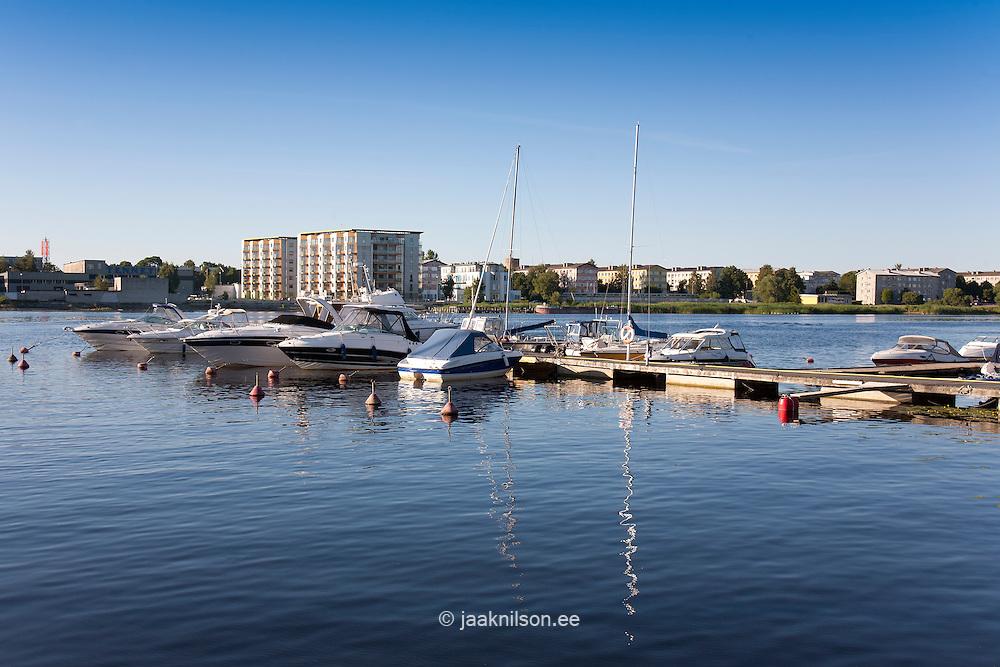 Yacht Marina in Pärnu, Estonia, Europe
