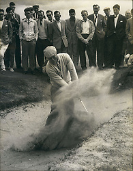 ARNOLD PALMER (Sept. 10, 1929 - Sept. 25, 2016) was an American professional golfer, who is generally regarded as one of the greatest players in professional golf history. He won numerous events on both the PGA Tour and Champions Tour, dating back to 1955. Nicknamed 'The King', he was one of golf's most popular stars and its most important trailblazer, because he was the first superstar of the sport's television age, which began in the 1950s. PICTURED: Jul. 07, 1962 - Troon, Scotland, United Kingdom - ARNOLD PALMER playing out of a bunker at Troon where he is competing ing the Open golf championships on the Old course scoring a record-equalling 69, to snatch the lead. (Credit Image: © Keystone Press Agency/Keystone USA via ZUMAPRESS.com)