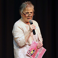 Diane Witt member of the Tupelo Elvis Presley Fan Club and creator of the music scholarship competition emceed Saturday's competition at Elvis Presely Birthplace