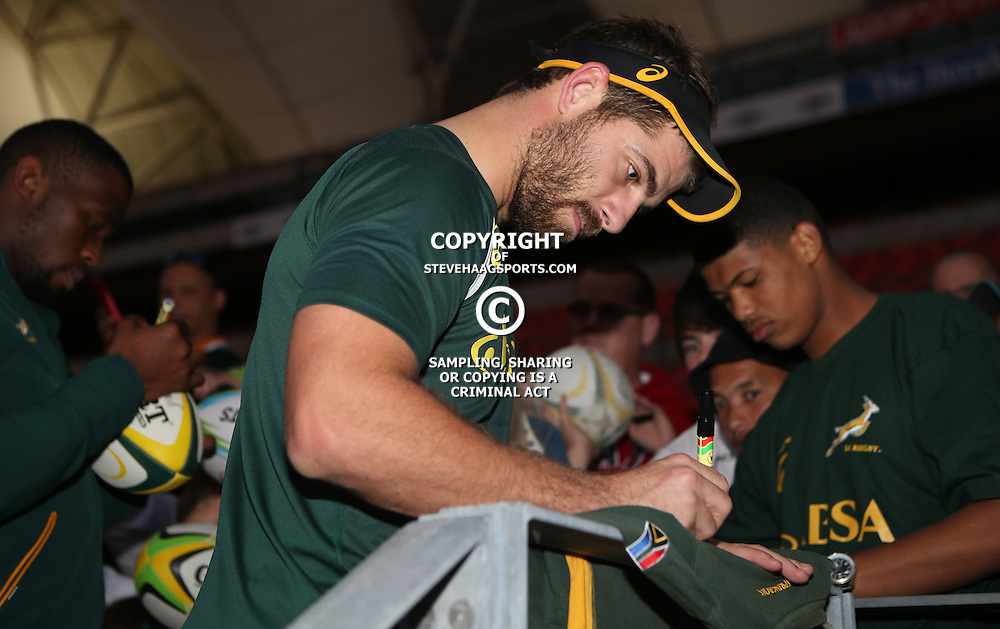 PORT ELIZABETH, SOUTH AFRICA - JUNE 24: Willie le Roux  during the South African National rugby team training session at Nelson Mandela Bay Stadium on June 24, 2014 in Port Elizabeth, South Africa. (Photo by Steve Haag/Gallo Images)