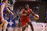 21/11/2014 NBL Adelaide 36ers vs Perth Wildcats at the Adelaide Arena. Photo by Kelly Barnes/AllStar Photos