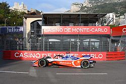 May 11, 2019 - Monaco, Monaco - 94 German driver Pascal Wehrlein of Mahindra Racing drive her single-seater during the 3rd edition of Monaco E-Prix, in port neighborhood in Monaco, France  (Credit Image: © Andrea Diodato/NurPhoto via ZUMA Press)