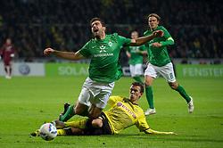 14.10.2011, Weser Stadion, Bremen, GER, 1.FBL, Werder Bremen vs Borussia Dortmund, im Bild.Foul von Ivan Perisic (Dortmund #14) an Philipp Bargfrede (Bremen #44) dafür gab es die rote LKarte.// during the Match GER, 1.FBL, Werder Bremen vs Borussia Dortmund on 2011/10/14,  Weser Stadion, Bremen, Germany..EXPA Pictures © 2011, PhotoCredit: EXPA/ nph/  Kokenge       ****** out of GER / CRO  / BEL ******