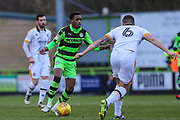 Forest Green Rovers Reece Brown(10) on the ball during the EFL Sky Bet League 2 match between Forest Green Rovers and Port Vale at the New Lawn, Forest Green, United Kingdom on 6 January 2018. Photo by Shane Healey.