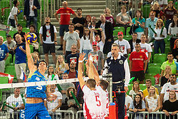 Alen Sket (SLO) during volleyball match between National teams of Slovenia and Belorussia in 1st Round in Group Cof 2019 CEV Volleyball Men's European Championship in Ljubljana, on September 12, 2019 in Arena Stozice. Ljubljana, Slovenia. Photo by Grega Valancic / Sportida