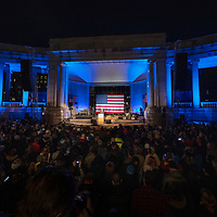Democratic presidential candidate and former Colorado Governor John Hickenlooper takes the stage during a rally held to help kick off his presidential campaign at the Greek Amphitheater in Denver's Civic Center Park on Thursday, March 7, 2019. Photo by Andy Colwell, special to the Colorado Sun