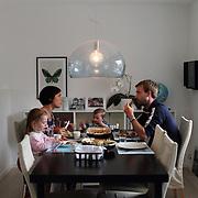Aarhus, Denmark, June 13th, 2010. The family reunited for dinner.