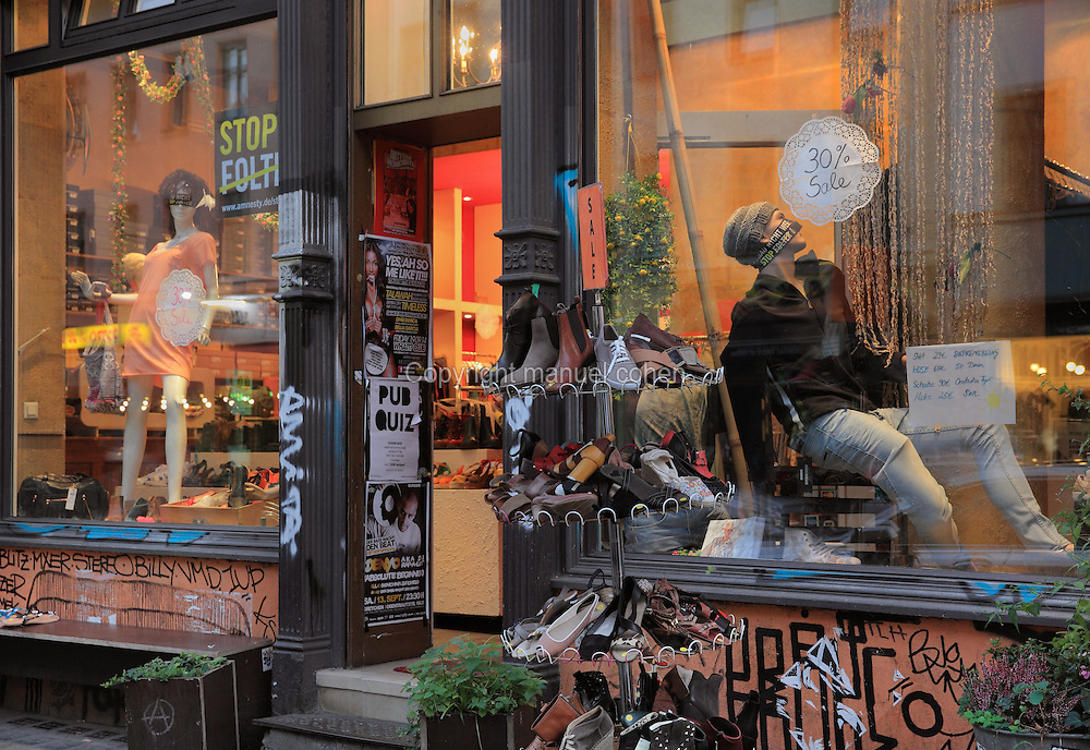 Shoe shop on Oranienstrasse, Berlin, Germany. Picture by Manuel Cohen
