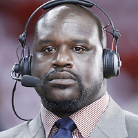 17 June 2012: TNT analyst Shaquille O'Neal is seen prior to Game 3 of the 2012 NBA Finals, Thunder at Heat, at the AmericanAirlinesArena, Miami, Florida, USA.