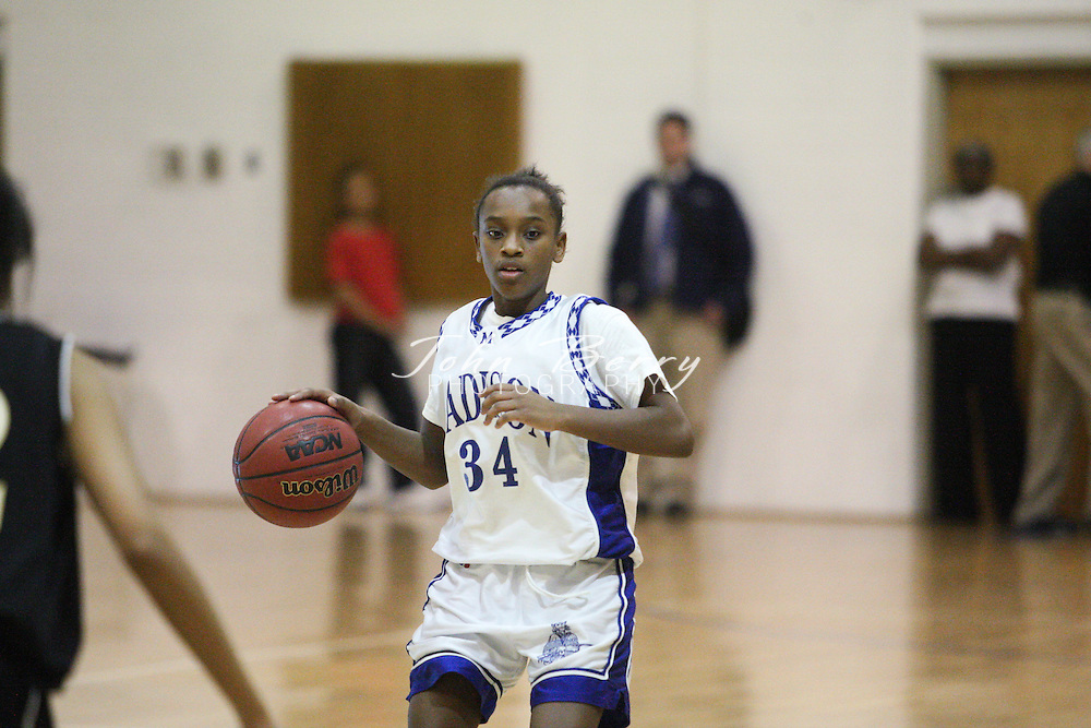 Date: 1/12/10, MCHS JV Girls Basketball vs Manassas Park Cougars, Madison wins 37-14.