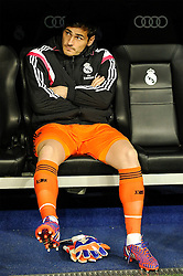 15.03.2015, Estadio Santiago Bernabeu, Madrid, ESP, Primera Division, Real Madrid vs UD Levante, 27. Runde, im Bild Real Madrid´s goalkeeper Iker Casillas // during the Spanish Primera Division 27th round match between Real Madrid CF and UD Levante at the Estadio Santiago Bernabeu in Madrid, Spain on 2015/03/15. EXPA Pictures © 2015, PhotoCredit: EXPA/ Alterphotos/ Luis Fernandez<br /> <br /> *****ATTENTION - OUT of ESP, SUI*****