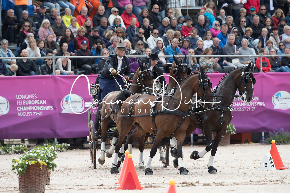 Sandmann Christoph, GER, Amico, Bo Liberator, Fredie, Wanita 5, Wierd<br /> FEI European Driving Championships - Goteborg 2017 <br /> &copy; Hippo Foto - Dirk Caremans