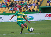 Tampa Bay Rowdies defender Caleb Richards(20) passes the ball during a USL soccer game, Sunday, May 26, 2019, in St. Petersburg, Fla. The Rowdies defeated the Rangers 1-0. (Brian Villanueva/Image of Sport)