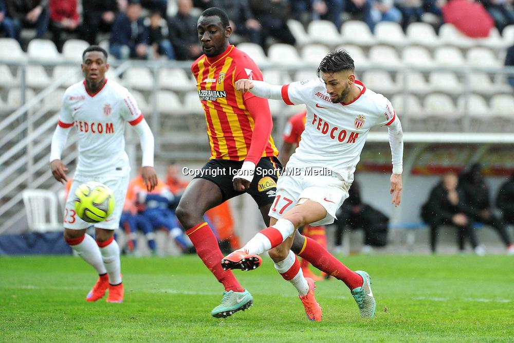 But Yannick FERREIRA CARRASCO / Abdoul BA - 26.04.2015 - Lens / Monaco - 34eme journee de Ligue 1<br />Photo : Nolwenn Le Gouic / Icon Sport