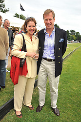 LORD & LADY IVAR MOUNTBATTEN at a charity polo match organised by Jaeger Le Coultre was held at Ham Polo Club, Richmond, Surrey on 12th June 2009.