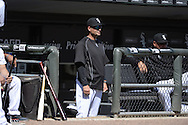 CHICAGO - APRIL 11:  Manager Robin Ventura #23 of the Chicago White Sox looks on against the Minnesota Twins on April 11, 2015 at U.S. Cellular Field in Chicago, Illinois.  (Photo by Ron Vesely)   Subject:   Robin Ventura