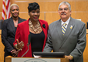 Houston ISD Trustee Wanda Adams comments after the Board voted unanimously to name Richard Carranza the sole finalist for the position of Superintendent, July 27, 2016.
