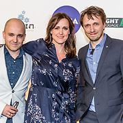 NLD/Amsterdam/20170328 - Uitreiking Tv Beelden 2017, Mark Koster, Janine Abbring en .......