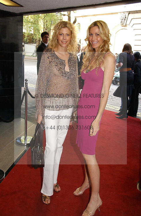 Left to right, VANESSA CUKIC and MELISSA ODABASH at a private screening of 'Sketches of Frank Gehry in association with jewellers Tiffany held at the Curzon Cinema, Mayfair on 10th May 2006 followed by a party at Nobu Mayfair, Berkeley Street.<br />