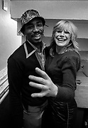 Marianne Faithfull with Lucky Gordon at Island Records Fallout shelter studio 1981